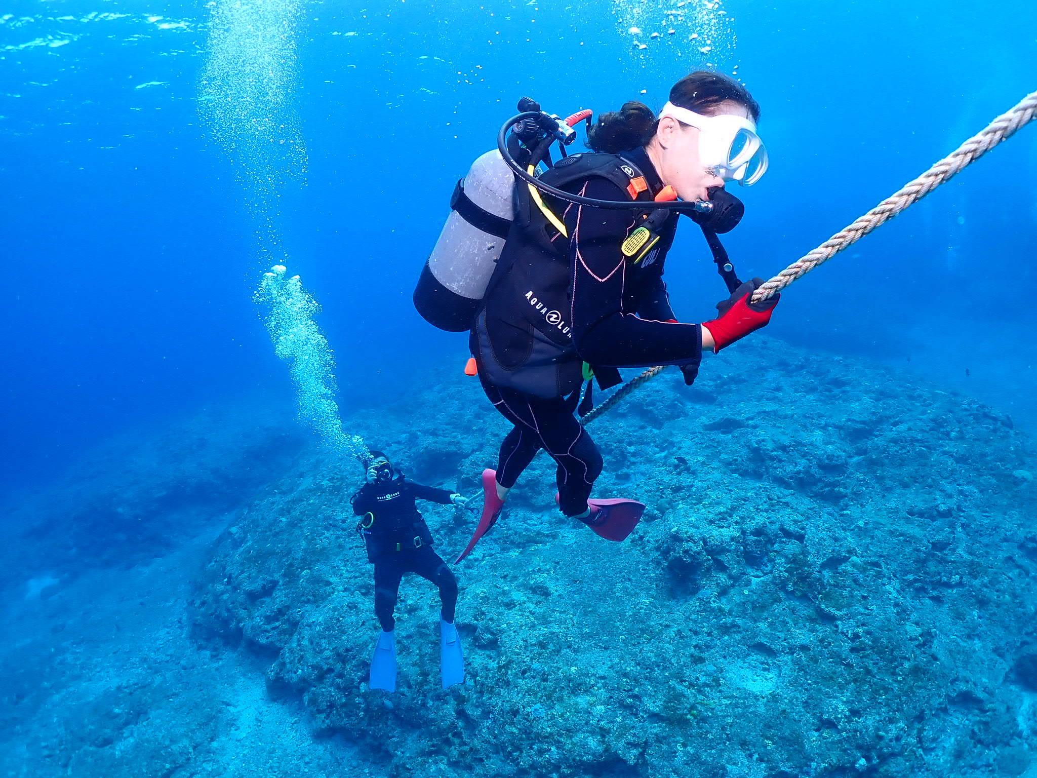 60歳の義母体験ダイビング