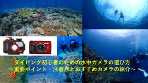 ダイビング初心者のための水中カメラの選び方~重要ポイント・注意点とおすすめカメラの紹介~